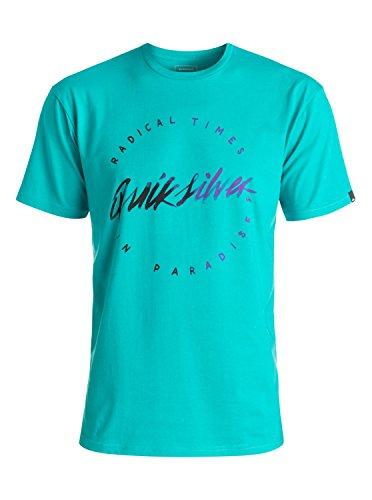 Quiksilver rightup–Camiseta Hombre, Hombre, Rightup, Viridine Green, M (Talla del Fabricante: M)