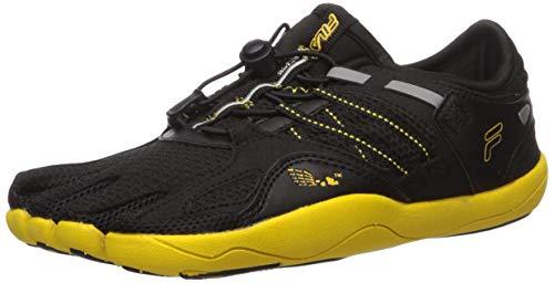 Fila Kids' Skele-Toes Bay Rnr 3 Water Shoe, BLACK/LEMON/METALLIC SILVER, 7 M US Big Kid
