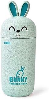 Nrpfell My Water Bottle Children Cartoon Rabbit Drinkware Tea Coffee Milk Sweet Animal Print Kid Birthday Cute Gifts Green