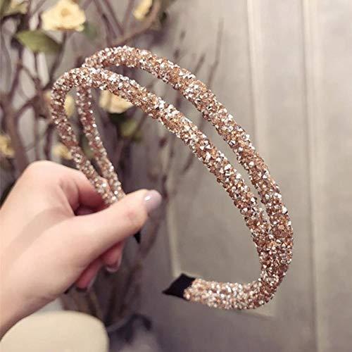 Tony plate Bandeau Haimeikang Corée Élégant Strass Mince Cheveux Cerceau pour Femmes Filles Brève Brillant Cristal Cheveux Accessoires De Mode-4
