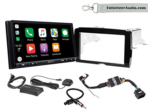 Sony XAV-AX7000 Double Din Radio Install Kit With Apple Carplay, Android Auto, SiriusXM For 2014-2018 Harley Davidson Motorcycles, May Not Work With CVO Models