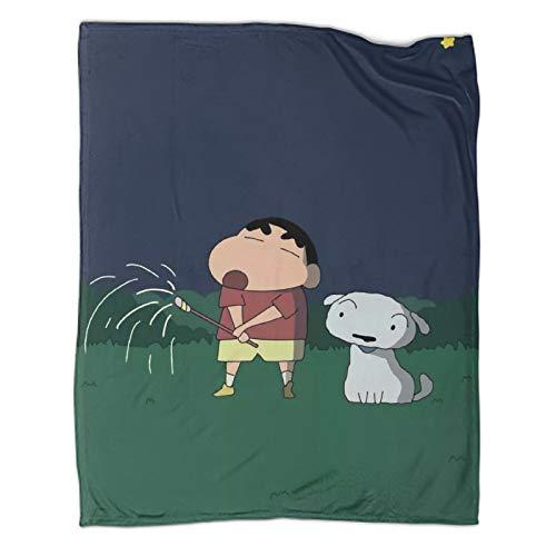 STTYE Geeignet für Sofa, Stuhl, Sofa und Bett, Kreide, Shin-Chan-Decken, als Geschenk für Frauen oder Männer, 100 x 130 cm.