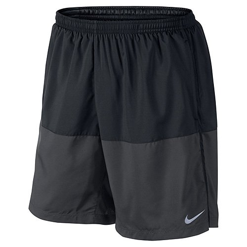 Nike Distance Short Homme, Noir/Anthracite/Reflective Silver, FR : M (Taille Fabricant : M)
