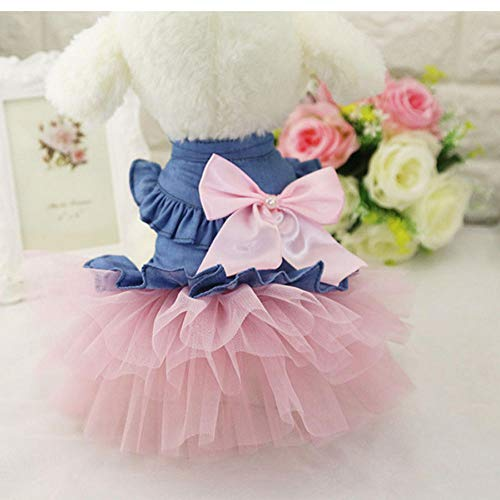 MUXIAND huisdier Chihuahua prinses trouwjurk mode kleine hond partij jurk kleding kat puppy honden kleren Yorkie kostuum, S