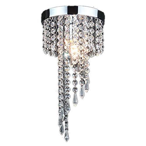 Lampadario di Cristallo,Lampada da Soffitto Cristallo K9,per Camera da Letto, Sala, Soggiorno, Corridoio(Altezza 30CM, Diametro 20CM)