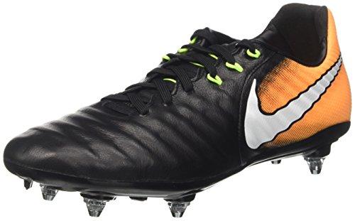 Nike Herren Tiempo Legacy Iii Sg Fußballschuhe, Schwarz (Black/white-laser Orange-volt), 42.5 EU