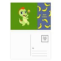 恐竜の王国は、あなたを愛して バナナのポストカードセットサンクスカード郵送側20個
