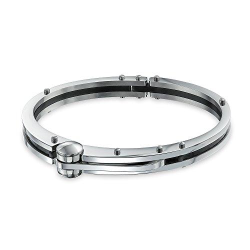 Bling Jewelry Partner In Crime Handschellen Für Herren Für Damen Armband Armreif Schwarz Carbon Edelstahl