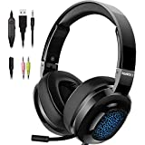 PANICKY Gaming Headset PS4, Xbox one Headset...