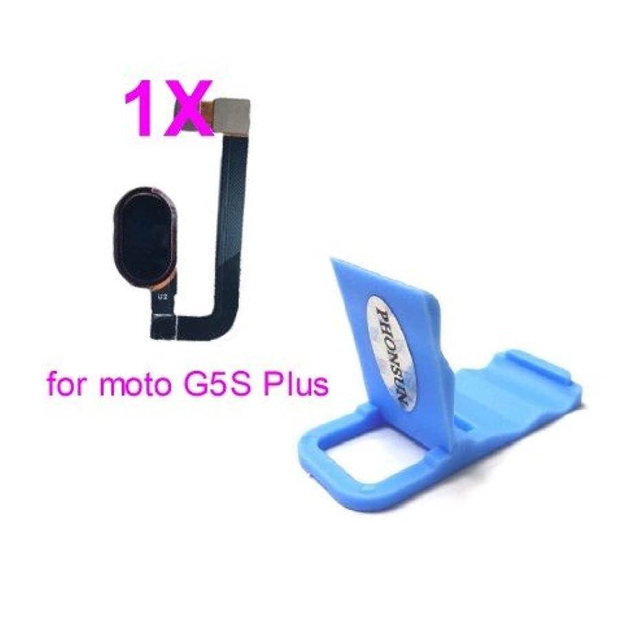 PHONSUN Home Button Fingerprint Flex Cable for Motorola Moto G5S Plus XT1805 XT1806 (Black)