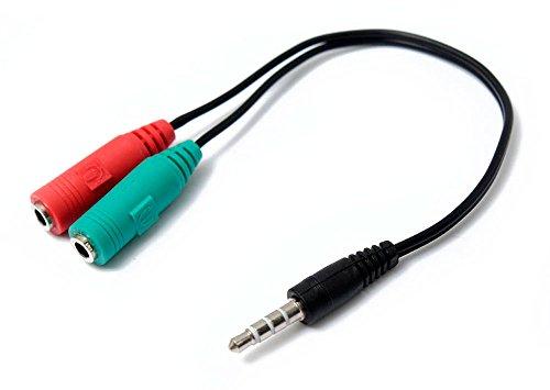 E NUC Adaptador Audio Microfono Auricular