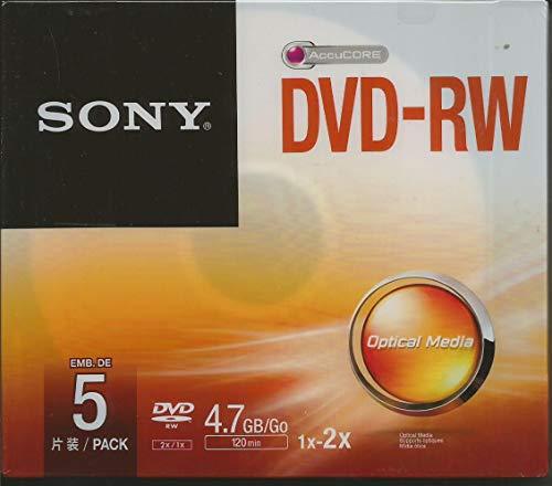 Sony 1x5 DVD-RW 4,7GB 1-2x Speed, Jewel Case, 5DMW47SS (Speed, Jewel Case)
