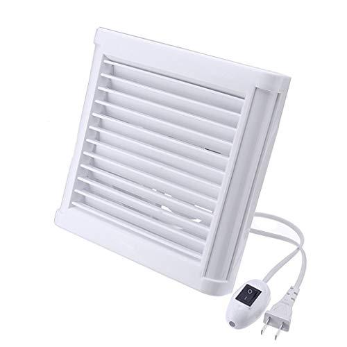 XZJJZ Extractor de baño silencioso a Prueba de Agua, Ventilador de Escape, Ventilador Fuerte para Cocina, Inodoro, Ventana, Ventiladores de ventilación de 4 Pulgadas y 6 Pulgadas (Size : 6inch)