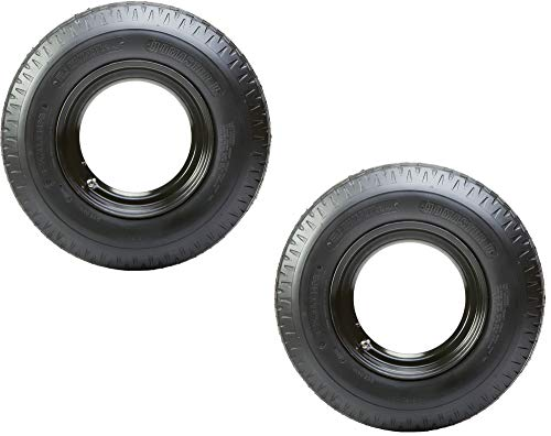 2-Pack Mounted Trailer Tire Rim Homaster 8-14.5 Load G 14.5 in. Demountable Rim