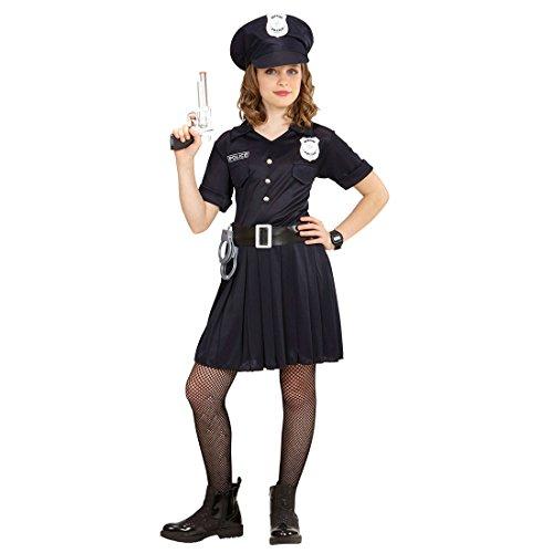 NET TOYS Polizeikostüm Mädchen Kinder Polizistin Kostüm 128, 5 - 7 Jahre Polizistinkostüm Kinderkostüm Politesse