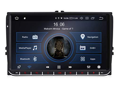 M.I.C. AV9-lite Android 10 Autoradio Radio Navigationssystem:DAB+ digitalradio Bluetooth 5.0 WLAN 9 Zoll IPS Bildschirm 2G+32G USB sd GPS Tuning für VW Skoda SEAT Polo Golf Passat touran t5 Octavia