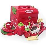 LHTY Holzkuchen Süße Prinzessin Nachmittagstee Gruppe Erdbeere Schokolade Kinder Küche Spielzeug...