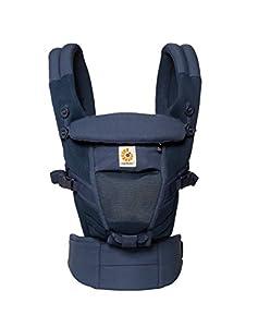 Ergobaby Adapt Cool Air Mesh Mochila Portabebes Ergonomico para Recien Nacido 3-Posiciones, Azul Marino