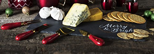 Holiday Entertaining Cheese Board and Knife Set