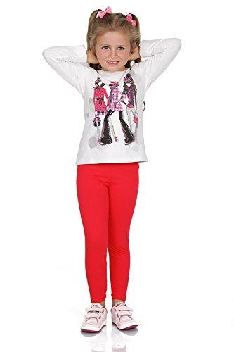 FUTURO FASHION® - Leggings para niñas - Cálidos y gruesos - Algodón - Rojo - Talla 2 años