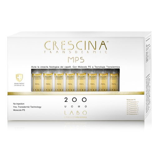 Labo Crescina Transdermic MPS Ri-Cresta 200 Anti-chute Cheveux Homme 20 ampoules