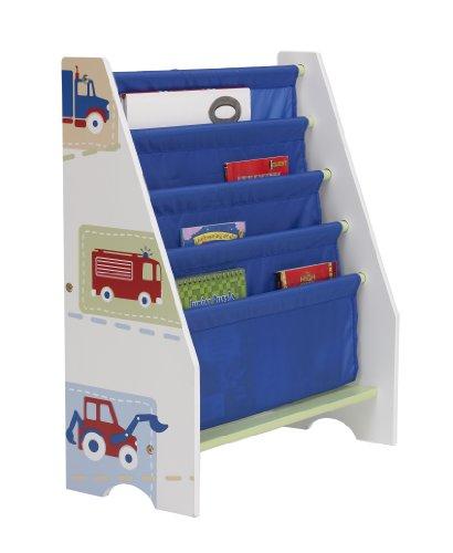 Worlds Estantería Infantil con diseño de Vehículos, Madera, Blanco ...