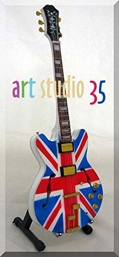 Noel Gallagher Oasis guitarra en miniatura, diseño Union Jack