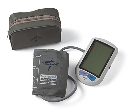 Medline MDS3001LA Adult Automatic Digital Blood Pressure Monitor, Large