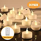 LED Tea Light 24 Pack Candles with Remote Control, Flameless Candles 100 Hours