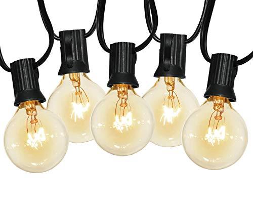 LUOWAN Outdoor String Lights 31.5FT G40 IP44 Garden String Lights for Indoor & Outdoor Décor Wedding Backyard Patio Cafe Garden Party Patio Christmas Festoon Decoration (25 Bulbs + 3 Spare Bulbs)