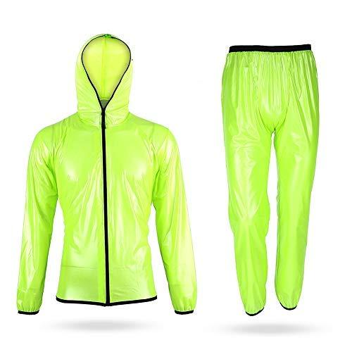 Mono de lluvia portátil impermeable para hombre y mujer, con chaqueta y...