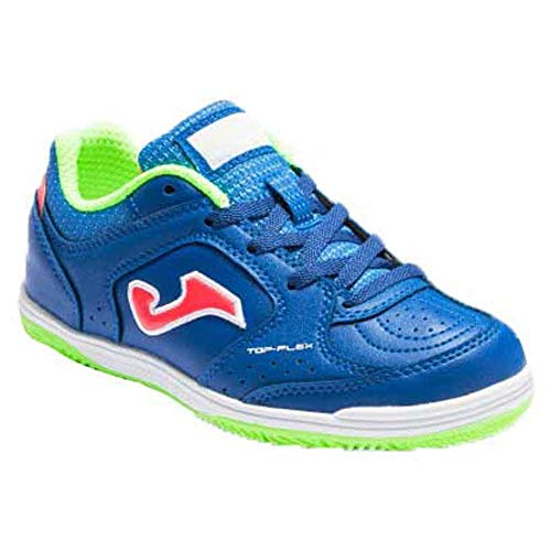 Joma Top Flex Jr, Zapatillas de Futsal, Azul, 33.5 EU