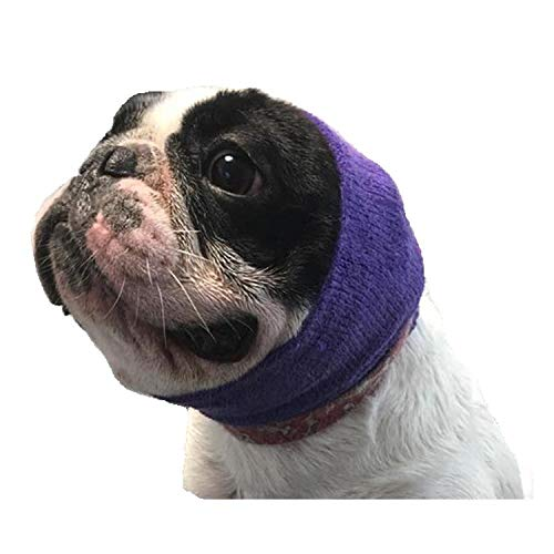 The Original Happy Hoodie for Dogs and Cats - Since 2008 - The Grooming and Force Drying Miracle Tool for Anxiety Relief and Calming Dogs - Small Purple