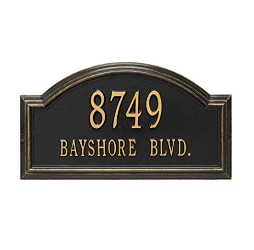 Personalized Cast Metal Address plaque - The Providence Arch Plaque. Display your address and street name. Custom house number sign.