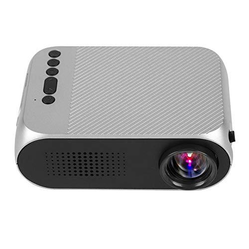 Proiettore Home Theater Mini 1080P HD LED Proiettore portatile HDMI USB per Home Media Player(EU(100-240v))