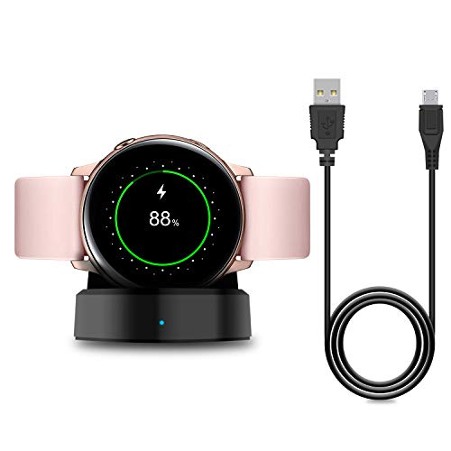 Charger Stand for Samsung Galaxy Watch Active 40mm/Active 2 40mm & 44mm/Galaxy Watch 3 41mm 45mm, Replacement Charging Cradle Dock for Galaxy Active Watch SM-R500N and Galaxy Active 2 Smartwatch