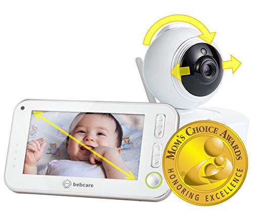 Bebcare Motion - Smart Video Baby Monitor: 4.3' Ultra-Clear Screen, 360° Pan-and-Tilt Camera, Temperature Sensor, Motion and Sound Alert, Auto Baby Tracking Camera (with Breathing Sensor Mat)