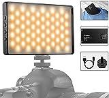LED Video Light Mini Camera Light Usb Charging Aluminum Alloy Photography Studio Lighting Bi-color Dimmable...