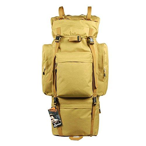 Grande capacité extérieure sac d'alpinisme sac à dos de camping randonnée 100L pluie