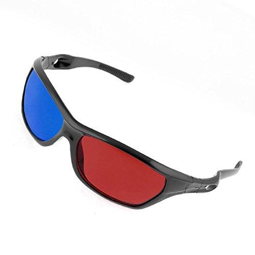 Gafas 3D de Anaglifo con puente simple, color rojo y azul