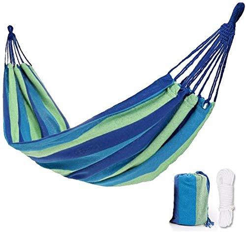 ZHPBHD Hammocks Camping Canvas Hammock Ultralight Outdoor Hammock For Outdoor Indoor Garden Multipurpose (Color : Blue, Size : 200X80CM)