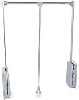 Emuca 7086111 Penderie rabattable pour largeur d'armoire réglable, 450-600mm, argenté