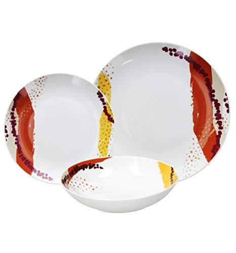 Tognana ME070185586 Servizio tavola 18 Pezzi Dakar, Porcellana
