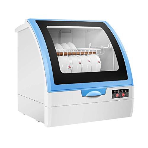 DWLXSH Completa portátil encimera for lavavajillas con 3 litros incorporado en el tanque de agua, 4 Programas, Bajo Nivel de Ruido, la Operación de Control Simple, estante for platos de almacenamiento