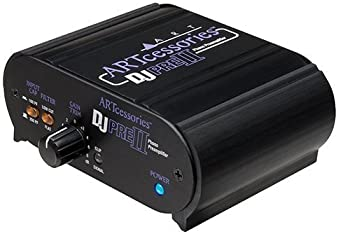 ART DJ Pre II Turntable Phono Preamplifier with RIAA EQ and a RCA Male to 2 RCA Male Audio Cable 3'