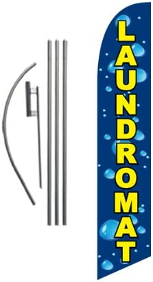 Laundromat Advertising Feather Banner Swooper with Sign Max 78% OFF Flag Max 69% OFF Fla