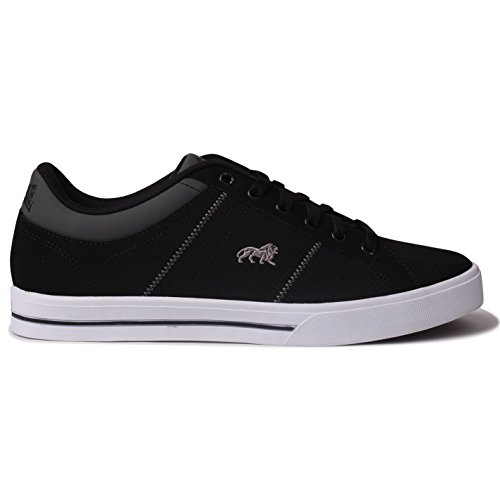 Lonsdale Herren-Sneaker/Sportschuhe/Freizeitschuhe, Obermaterial Leder, schwarz - schwarz - Größe: 46 EU