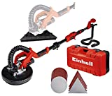 Einhell TE-DW 225 X Drywall Sander (750 W, spring brush holder, telescopic handle 165 cm maximum, sold with sanding discs and triangles, abrasive cloth pads and case)