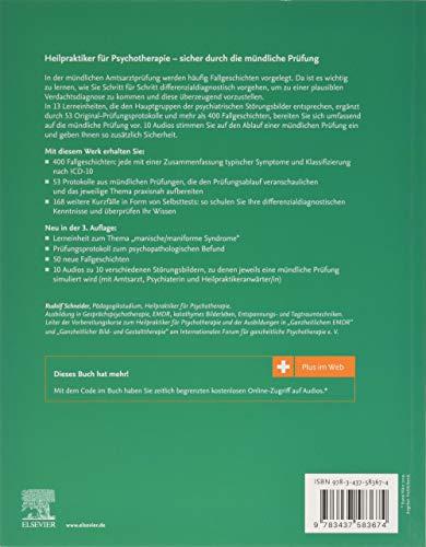 Heilpraktiker für Psychotherapie - Mündliche Prüfung: 400 Fallgeschichten, 53 Prüfungsprotokolle - Mit Plus im Web