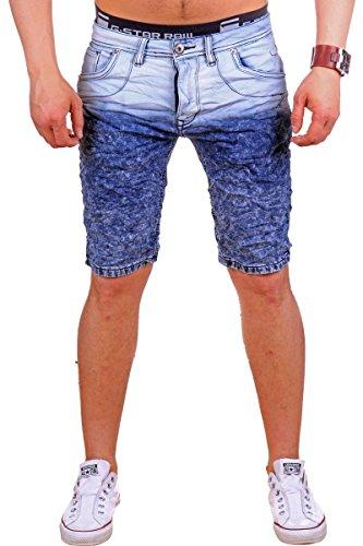 Justing Herren Jeans-Bermuda | ST-6531 (Verwaschenes Blau 36)